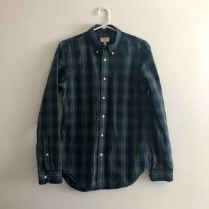 CLUB MONACO Slim Fit Plaid Button Down Shirt